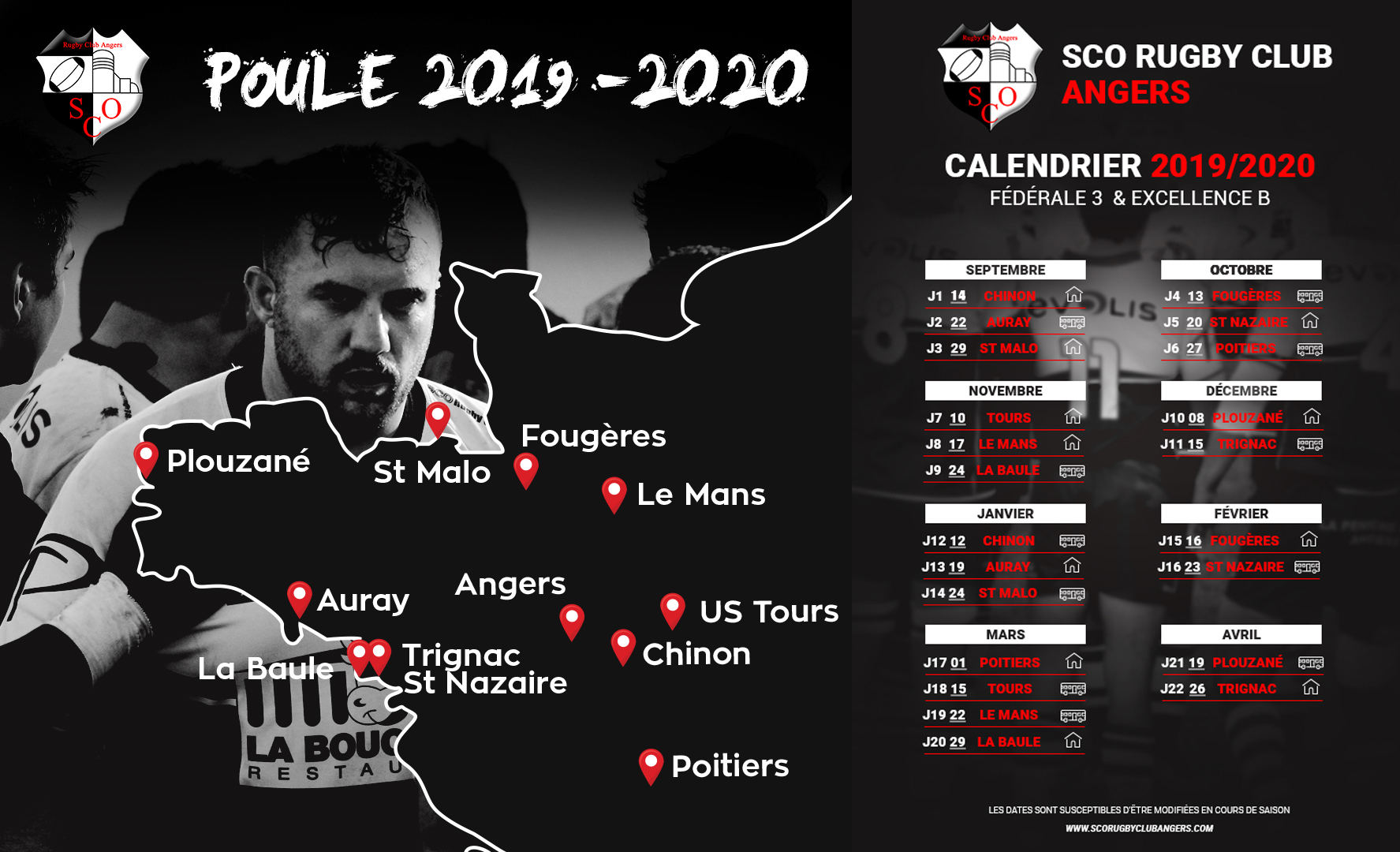 Photo poule et calendrier seniors 2019 2020